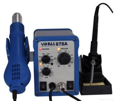 YIHUA 878A HOT AIR GUN WITH BOUTH